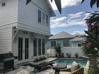 1 Bdr + Loft | New Luxury Cottage | Private Pool |2 houses from beach walkover!