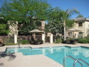 Phoenix condo rental - Beautiful Large Heated Pool and Spa right next door the Fitness Center