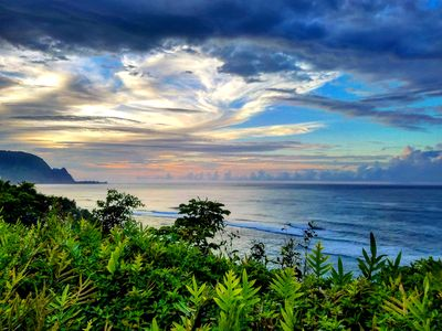 Gorgeous Hanalei sunsets steps from your unit