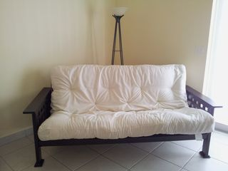St. Croix house photo - New double futon in master bedroom with 8 inch thick mattress pad. Sleeps 2