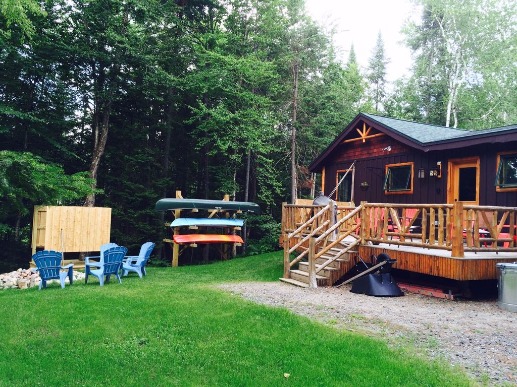 Luxury Cabin Perfect Location Rainbow Lake Ny Vrbo