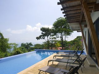 Dominical villa photo - Infinity edge pool, terrace, ocean views
