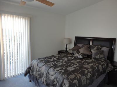 Master Bedroom with walkout Balcony overlooking inter-coastal waterway