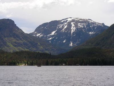 Spectacular Grand Lake with Mt Baldy in the background