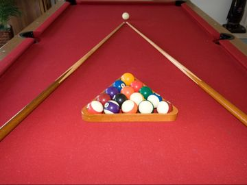 A full size pool table...