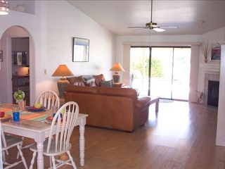 Glendale house photo - Spacious family room with vaulted ceilings. Entrance to Master Bedroom on left.