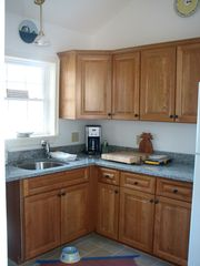 Wiscasset cottage photo - Kitchen with Fridge, Convection Oven, Dishwasher..