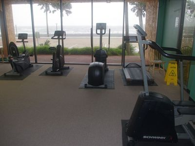 Waterfront air- conditioned exercise room.