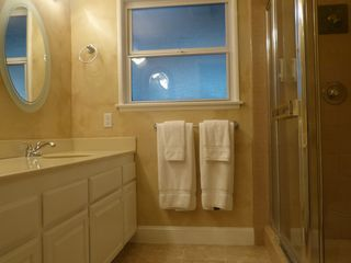 Anaheim house photo - Master bath, dual sinks, shower / toilet; all 3 bath has its own hair dyer.
