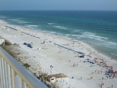 View from 14th Floor Balcony of Beach Area