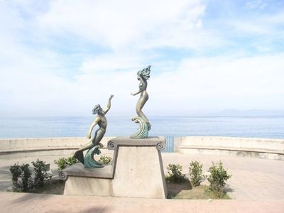 One of the many sculptures along the Malacon in Puerto Vallarta