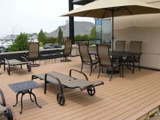 Ludington condo photo - Our Expansive 575 sq. ft.Terrace