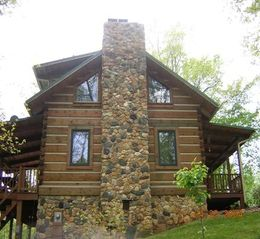 Woolwine cabin photo - Enjoy the views from the two porches and windows.