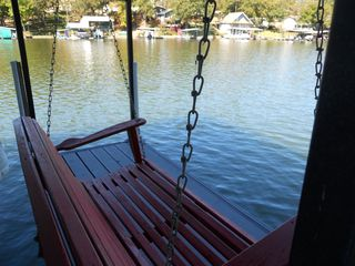Laurie house photo - Enjoy the view from the dock swing