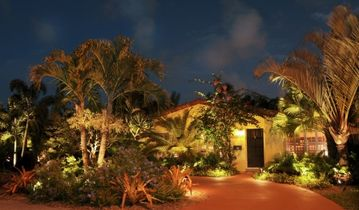 Villa lit at Night!
