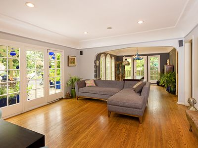 Spanish-style Charm in Silver Lake with Patios Galore