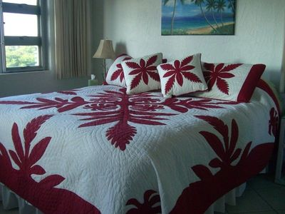 CalKing Bed in Master, Brand New and Comfy! Oceanview Bedroom