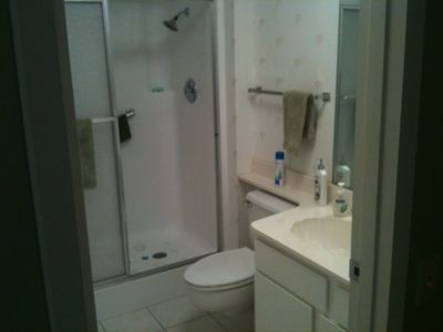 Master Bath, large walk-in shower with seat