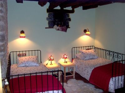 Vega de Liébana apartment rental - Bedroom with two single beds
