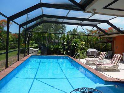 Clear beautiful pool to help you stay cool!