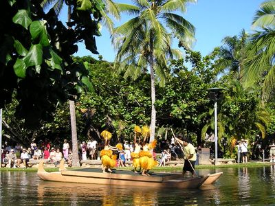 We are located a short walking distance from the Polynesian Cultural Center