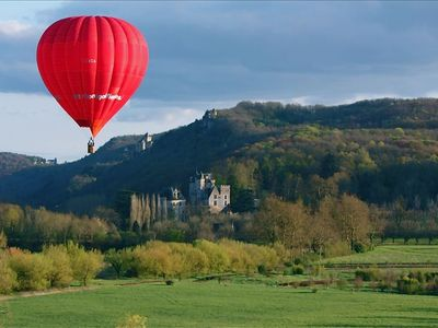 Hot Air Balloons often soar by just outside the great room window