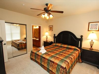 King Master Suite with Private Bath, Flat Panel TV