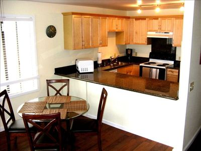 Maple cabinets and granite countertops