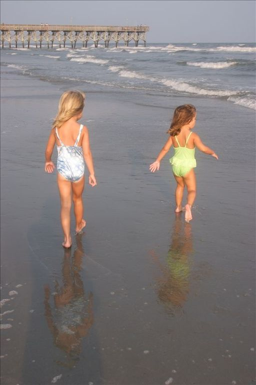 Our little ones love the calm surf and smooth beach