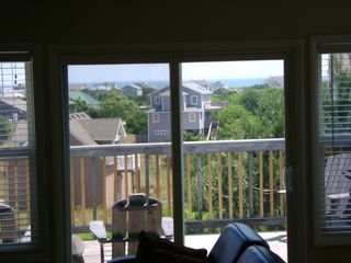 Kitty Hawk townhome photo - View of Atlantic Ocean and Sundeck from Dining/Living area (Top Floor)