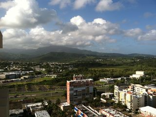 Luquillo condo photo - View of El Yunque and town from balcony