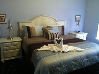 Kissimmee condo photo - The Master Bedroom: King Bed, Large Master Bathroom, Garden Tub, Walk-In Closet