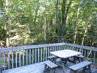 Wilmington house photo - Private deck surrounded by common land