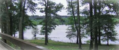 Lake view from deck on main house