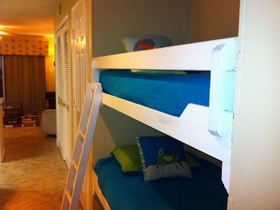 Your kids will love the two bunk beds!  Comes with a kiddie ladder!