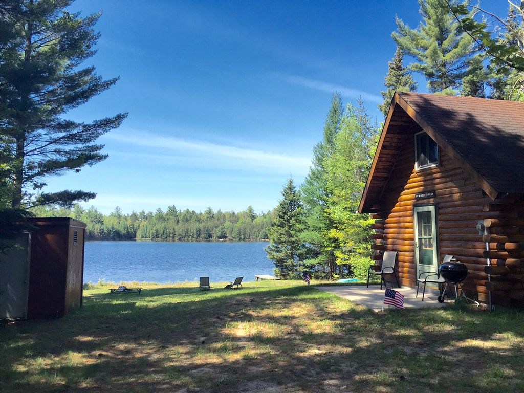 Escape To The Lake Quiet Rustic Log Cabin Vrbo