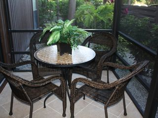 Sanibel Island condo photo - Screened very private lanai