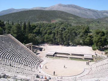 The magnificent theatre at Epidavros