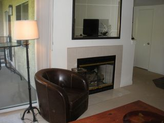 Laguna Beach condo photo - View of Living Room Fireplace