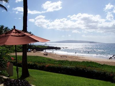 Beach and Ocean View From Lanai Beach is only steps away