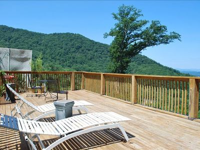 Asheville condo rental - Home Again Suite with a beautiful view of mountains from the deck!