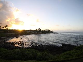 Poipu condo photo - Sunrise from the balcony