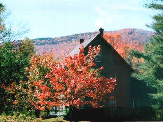 Stratton Mountain farmhouse photo - fall foliage and view of a ridge line at Stratton
