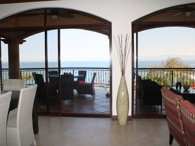 Punta Leona condo rental - View outward from kitchen