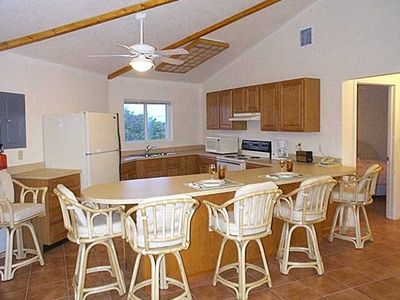 A fully equipped kitchen makes you feel at home.