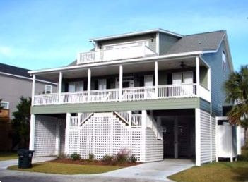 Front view of house - Edisto Beach, South Carolina Vacation Rental