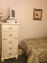 "DVD/VCR and 19"" HD Flat Screen TV in Tropical Twin Bedroom - Myrtle Beach Resort condo vacation rental photo"