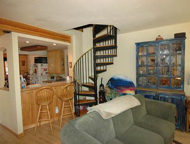 Breckenridge townhome rental - Spiral Staircase