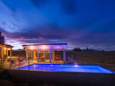 Rural paradise studio with heated pool.