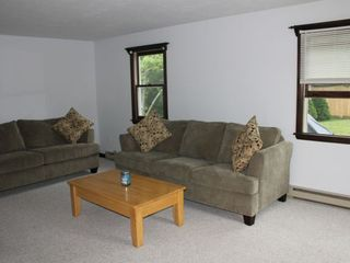 Bourne cottage photo - Living room with two pull out couches (a queen and a full).